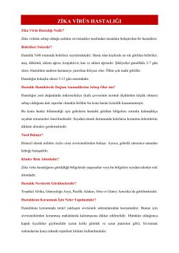 zika virüs hastalığı - Türkiye Halk Sağlığı Kurumu