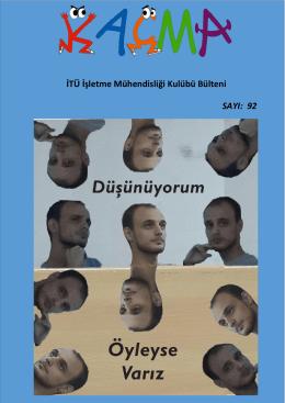 Kaçma – 92. Sayı - İTÜ İşletme Mühendisliği Kulübü