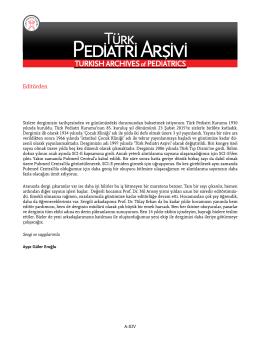 Tam Metin  - Türk Pediatri Arşivi