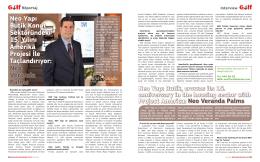 Neo Yapı Butik Konut Sektöründeki 15. Yılını Amerika