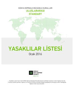 2016 Yasaklılar Listesi