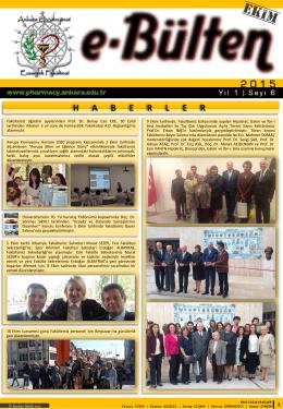 Yıl 1   Sayı1 - Eczacılık Fakültesi