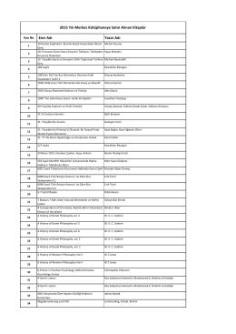 2015 Yılı Satın Alınan Yayın Listesi