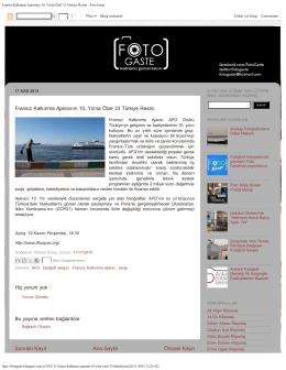Fransız Kalkınma Ajansının 10. Yılına Özel 33 Türkiye Resmi