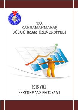 KSÜ 2015 Mali Yılı Performans Programı 1