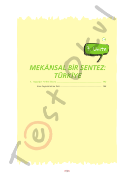 MEKÂNSAL BİR SENTEZ: TÜRKİYE - Your Pocket Library