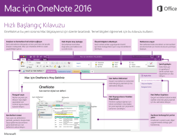 Mac için OneNote 2016