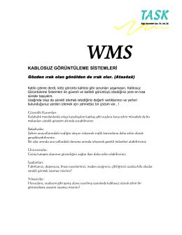 wms kablosuz görüntüleme sistemleri