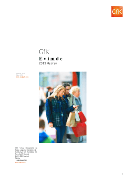 GfK Tüketici Paneli E- Bülten 2015 Haziran sayısı için tıklayınız