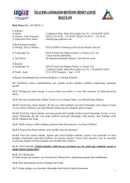 2015-İKM-11 İhale İlanı