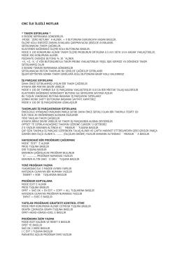 Cnc Kullanım Notları (Onur Kaya) Isparta