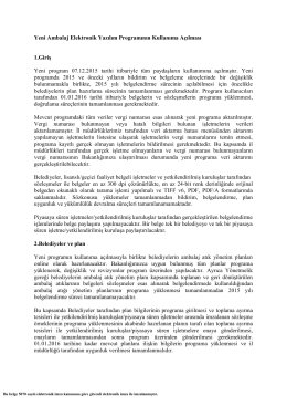 Ek: Program Kullanımı - Atık Ambalaj Sistemi