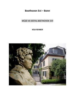 Beethoven Evi – Bonn - Beethoven