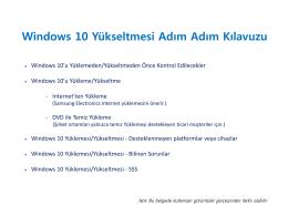 Windows 10 Yükseltmesi Adım Adım Kılavuzu