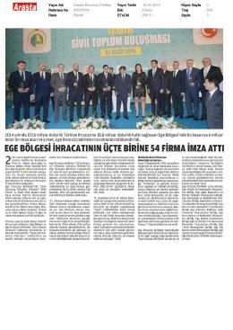 Yayın Adı : Arasta Ekonomi Politika Yayın Tarihi : 10.02.2015 Küpür