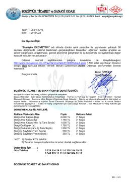 bulten2015aralik - Bozüyük Ticaret ve Sanayi Odası