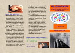 Görme Engelliler Broşür - Kayseri Rehberlik ve Araştırma Merkezi