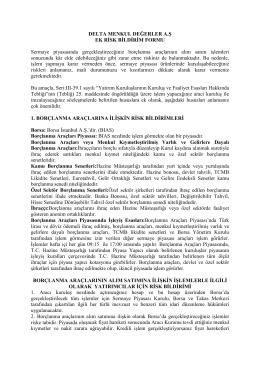 DELTA EK RİSK BİLDİRİM FORMU