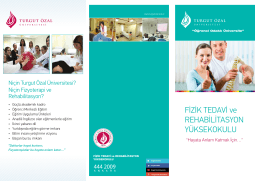 tanıtım broşürü - Turgut Özal Üniversitesi