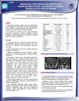 kongenital adrenal hiperplazi ve prolaktinoma