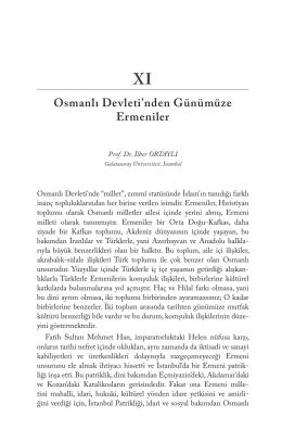 Osmanlı Devleti`nden Günümüze Ermeniler