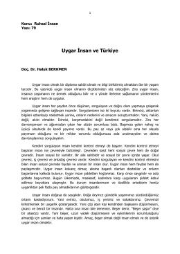 79- Uygar İnsan ve Türkiye