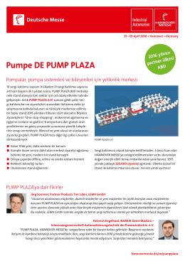 Pumpe DE PUMP PLAZA
