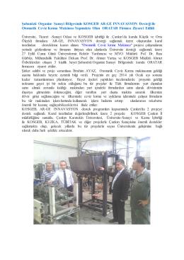 Şabanözü Organize Sanayi Bölgesindeki Oratar Firması Ziyareti, 27