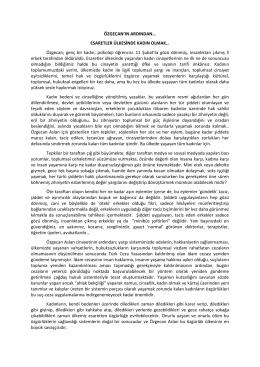 ÖZGECAN`IN ARDINDAN… - Hacettepe Üniversitesi Kadın