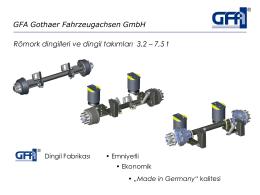 GFA Gothaer Fahrzeugachsen GmbH Römork dingilleri ve dingil