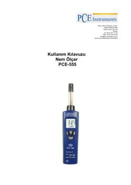 Kullanım Kılavuzu Nem Ölçer PCE-555