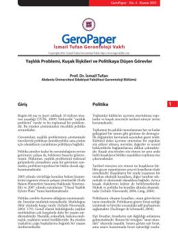 geropaperitg-no4-kasim2015 - İsmail Tufan Gerontoloji Vakfı