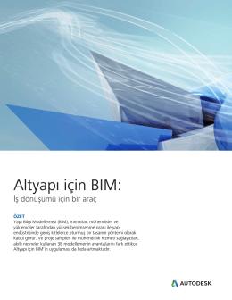 Altyapı için BIM:
