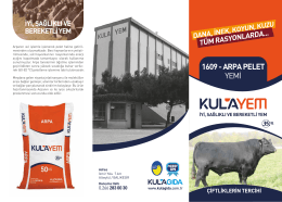 Ürün Broşürü - Kula Gıda Kombinaları A.Ş.