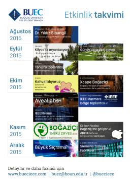 Etkinlik takvimi 2015-2016 etkinliklerimize ulaşın.