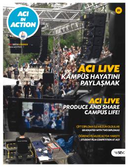 ACI LIVE - Özel İzmir Amerikan Koleji