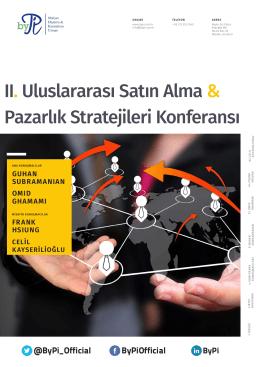 II. Uluslararası Satın Alma & Pazarlık Stratejileri Konferansı