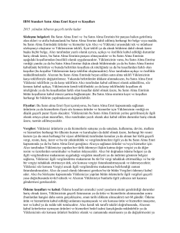 IBM Standart Satın Alma Emri Kayıt ve Koşulları 2015 yılından