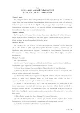 BOU Satınalma ve İhale Yönergesi (14-04-2015 - 116 MHK)