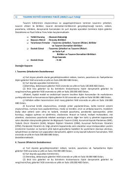 1) TASARIM DESTEĞİ HAKKINDA TEBLİĞ (2008/2 sayılı Tebliğ