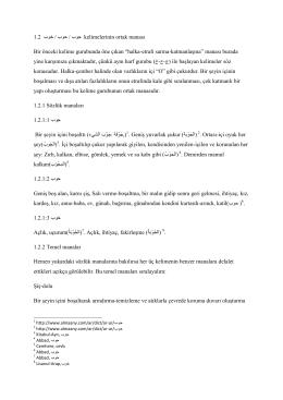 1.2 بوخ / بوح / بوج kelimelerinin ortak manası Bir önceki kelime