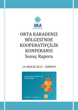Orta Karadeniz Bölgesi`nde Kooperatifçilik Konferansı