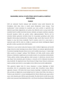 buradan - İstanbul Ticaret Üniversitesi