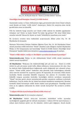 """Doç. Dr. Ali Büyük Aslan ile """"İslamî (!) Evlilik Siteleri"""" üzerine"""
