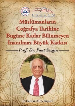 TÜBA Şeref Üyesi Prof. Dr. Fuat Sezgin