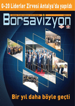 borsavizyon - Ankara Ticaret Borsası