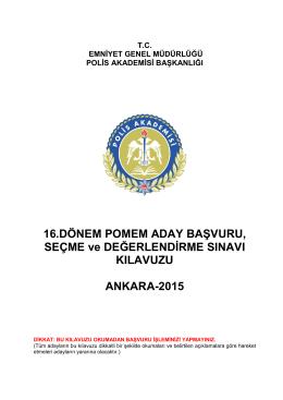 başvuru kılavuzu - Polis Akademisi