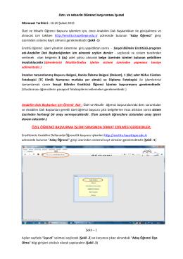 2014-2015 Egitim Ögretim Yili Bahar Dönemi Özel Ögrencilik