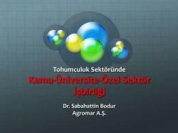 Kamu-Üniversite