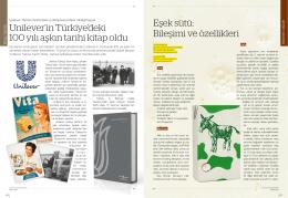 Unilever`in Türkiye`deki 100 yılı aşkın tarihi kitap oldu